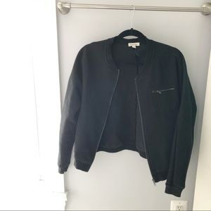 Black Knit URBAN OUTFITTERS Bomber Jacket, Size M